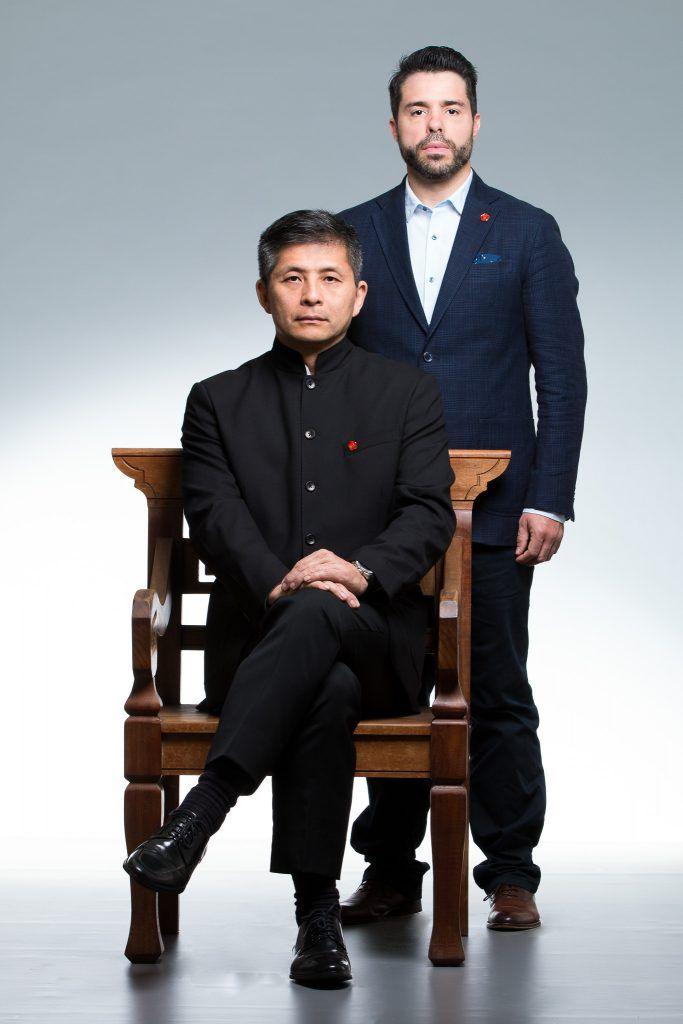 Gran Maestro Leo Imamura con su discípulo el Maestro Marcelo Navarro