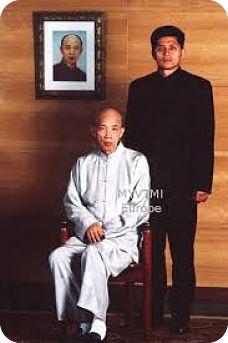 Patriarca Moy Yat con su discípulo el Gran Maestro Leo Imamura